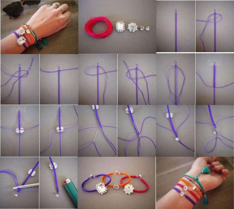 Как сплести браслет на руку своими руками из